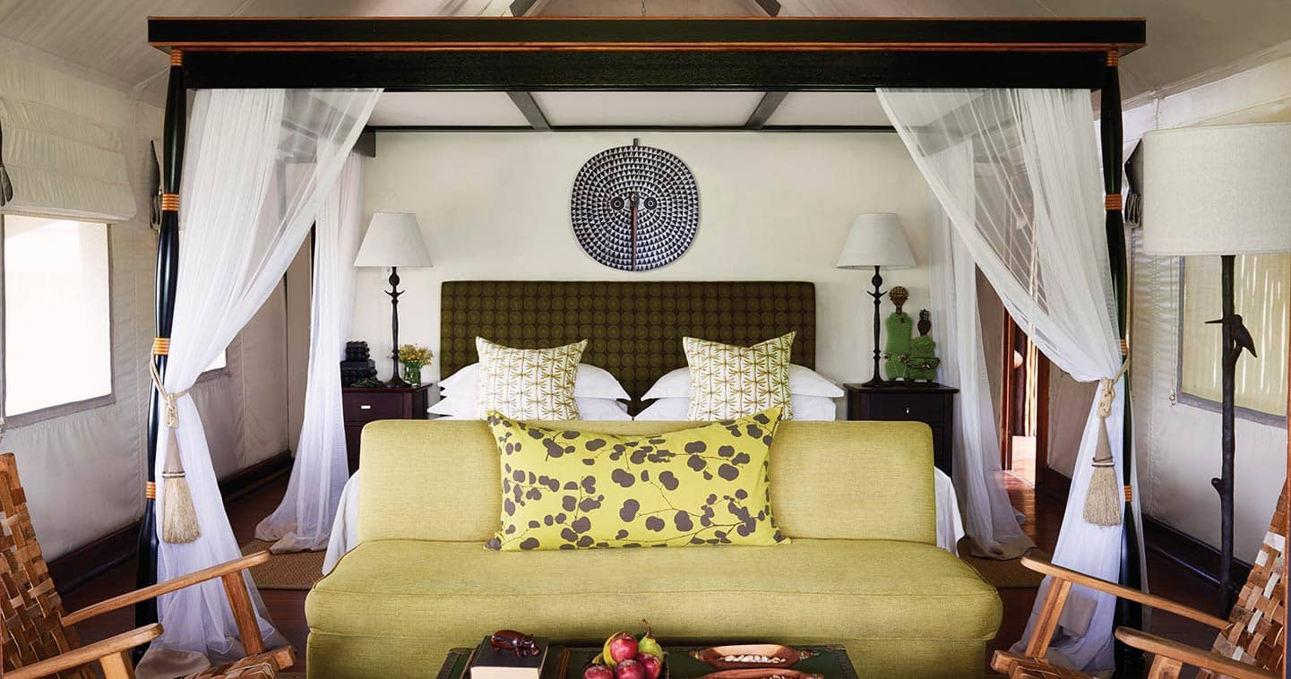 Bedroom at Belmond Khwai in Moremi