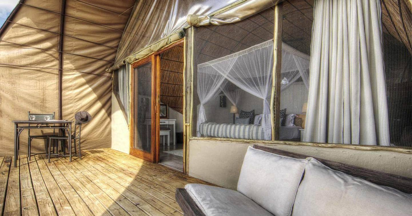 Room at Camp Okuti in the Moremi Game Reserve