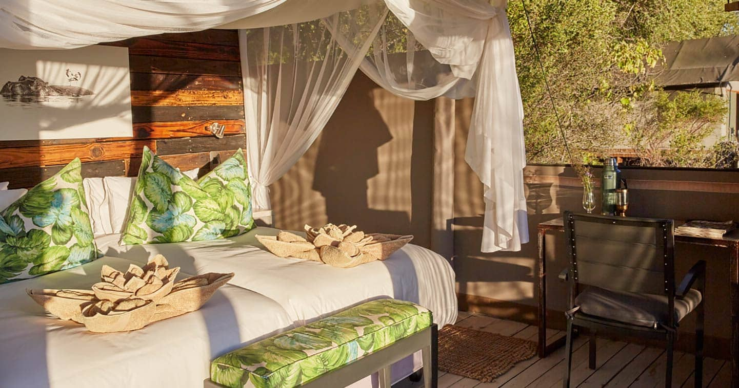 Bedroom at Jackal and hide near Moremi Game Reserve
