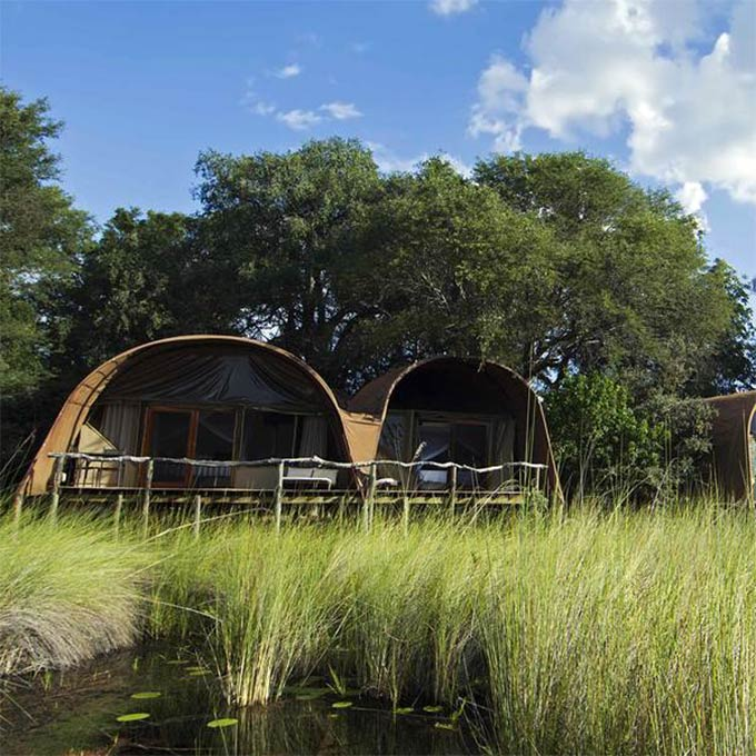View Camp Okuti in Moremi Game Reserve