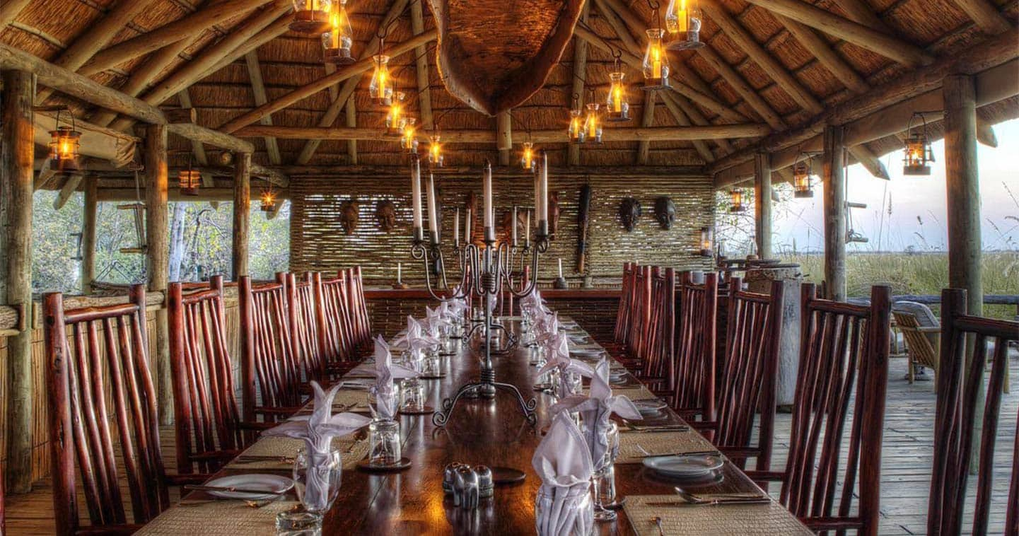 Excellent Dining at Camp Xakanaxa in the Moremi Game Reserve