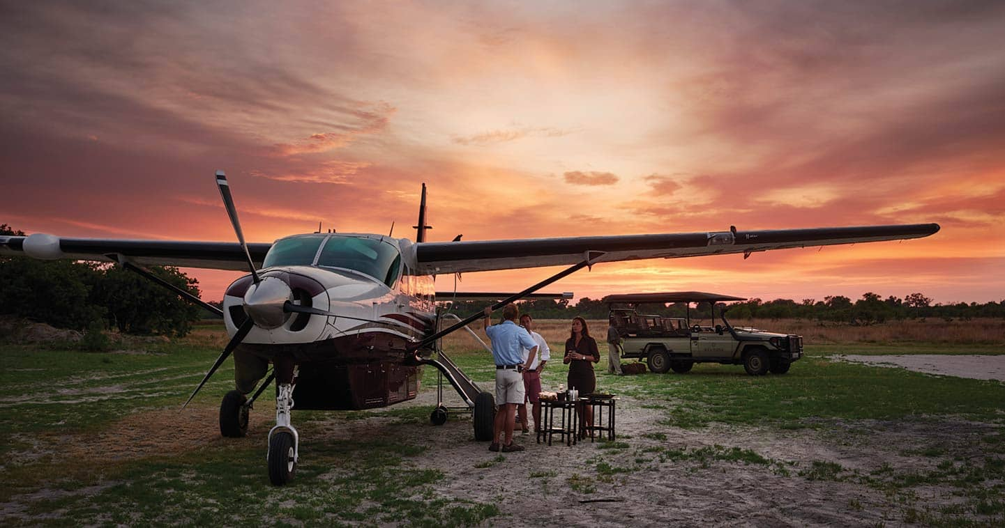 Easy access charter flight to Moremi Game Reserve