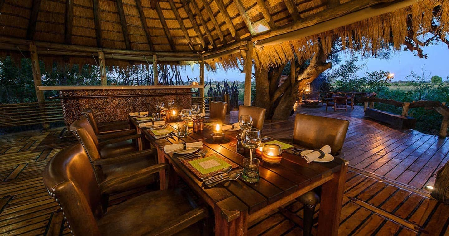 Dining in a Luxury Setting at Little Mombo Camp