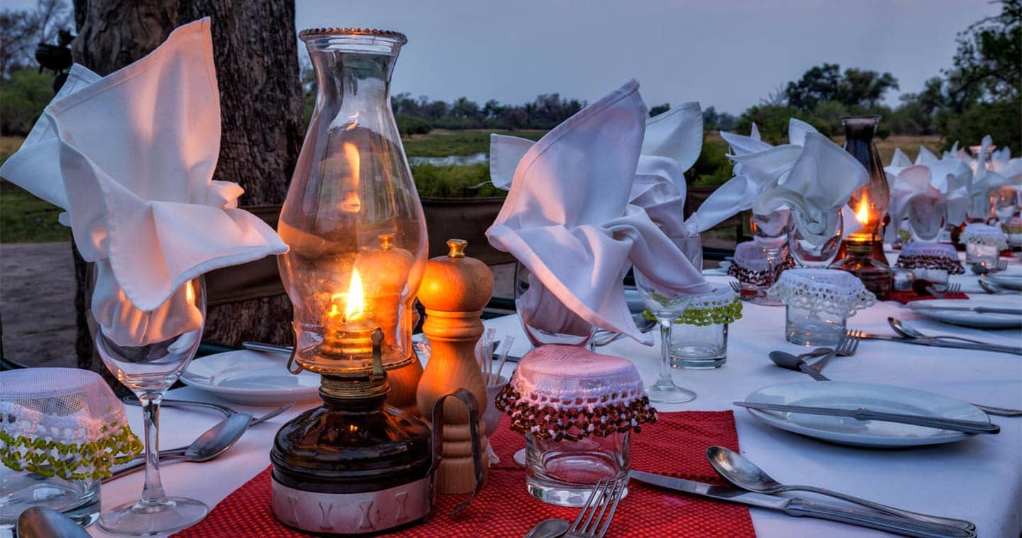 Dining in a Luxury Setting at Machaba Camp