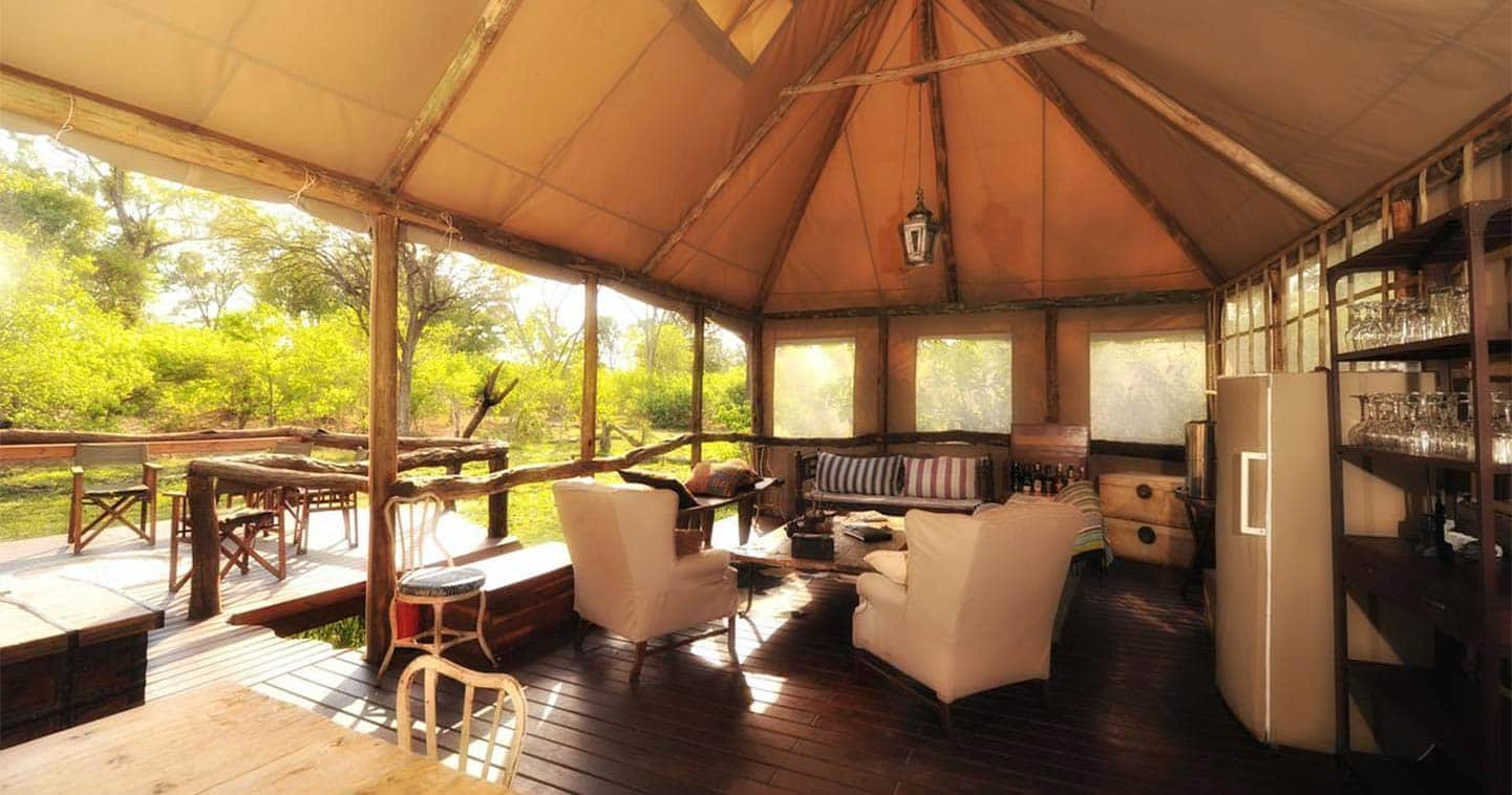 Lounge at the Khwai Tented Camp in Moremi Game Reserve