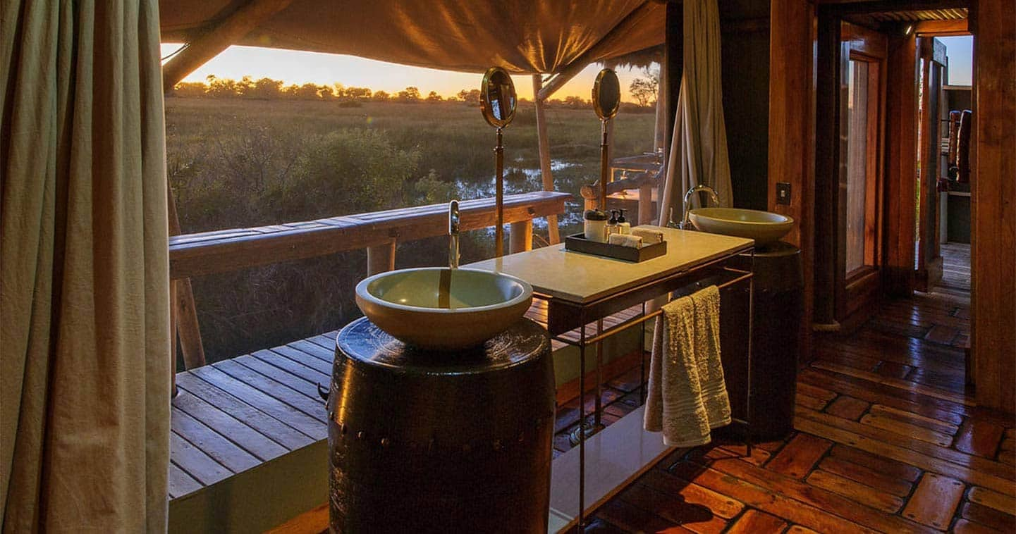 Mombo Camp Bathroom in Moremi Game Reserve