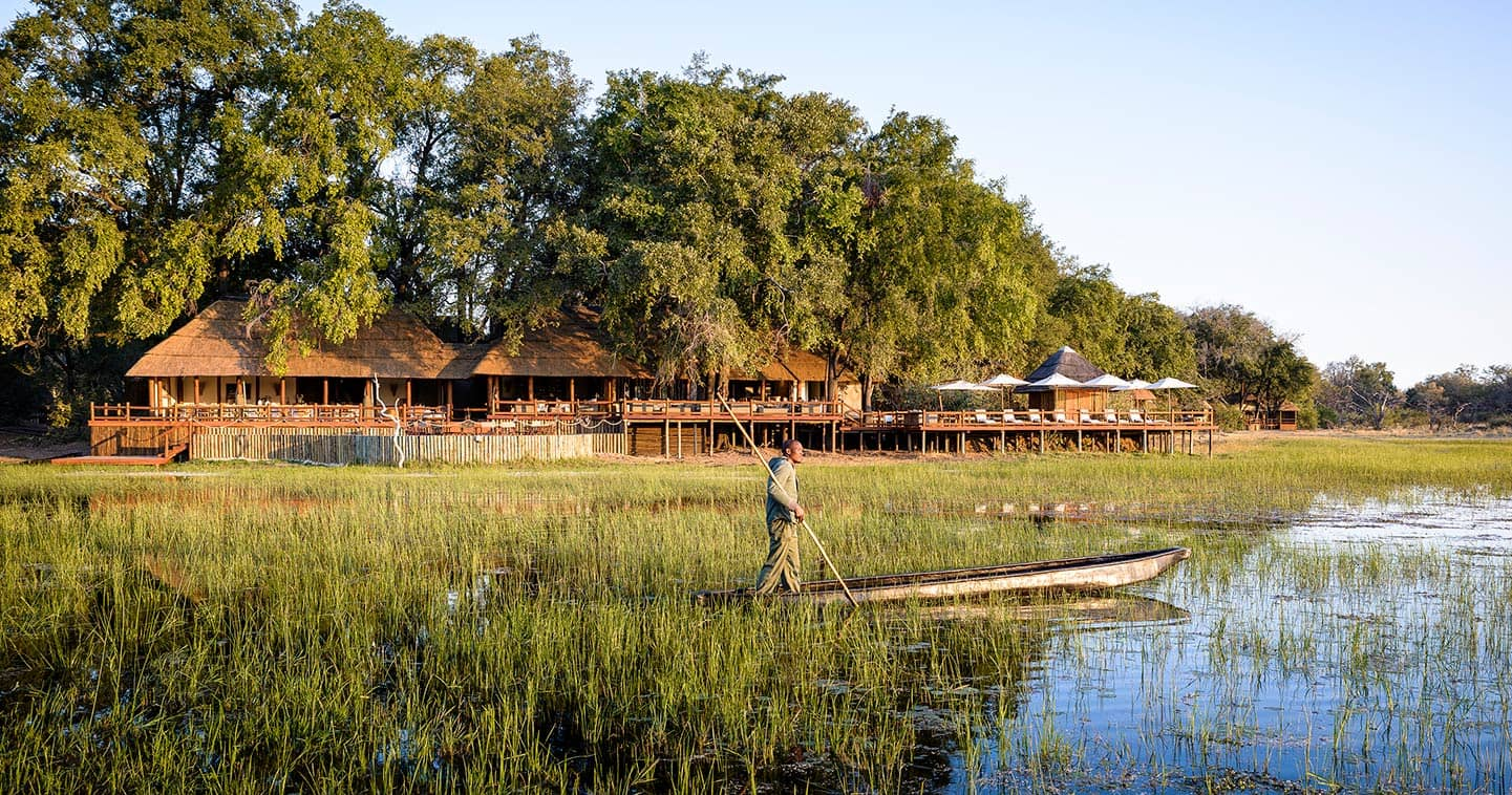 Luxury Lodge Accommodation at Sanctuary Chiefs Camp in the Moremi Game Reserve