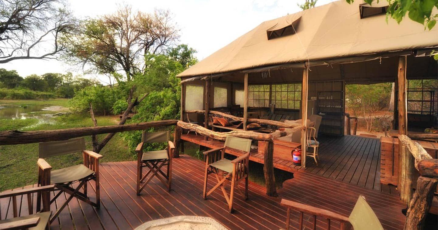 Khwai Tented Camp Main Deck in the Moremi Game Reserve