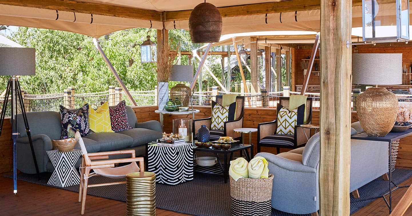 The main lodge at Tuludi Camp in Botswana