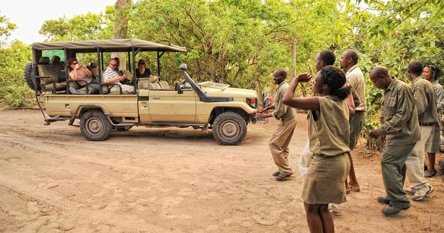 Arrival in the Moremi Game Reserve