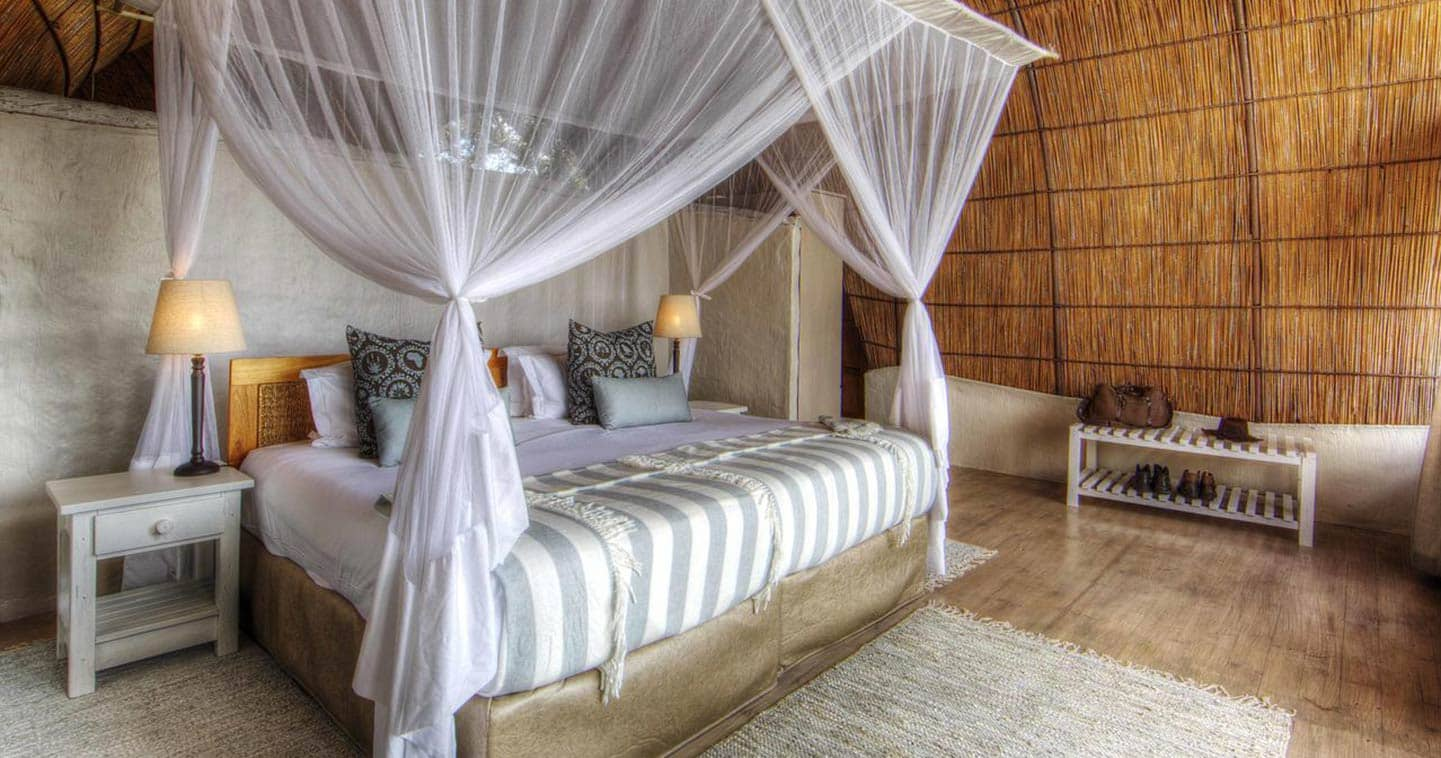 Bedroom at Camp Okuti in the Moremi Game Reserve