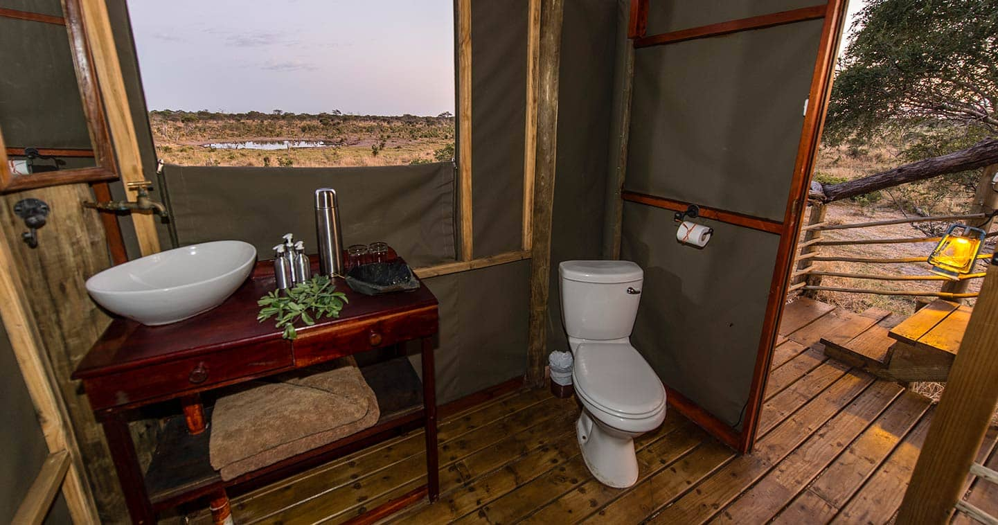 Bathroom at Khwai Skybeds